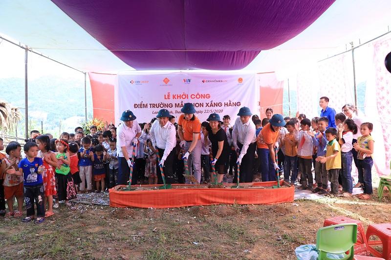 CenGroup khởi công xây điểm trường tại Xắng Hằng